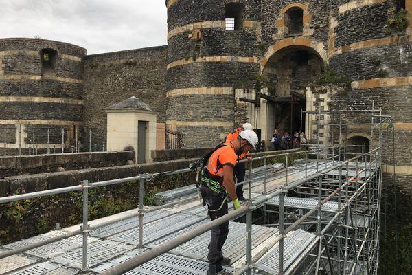 Huit tours et les remparts de la façade nord vont être restaurés.