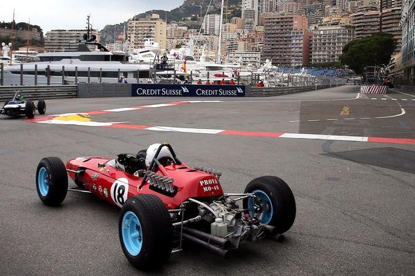 Des voitures du Grand Prix historique sur le circuit de Monaco. (Archives)