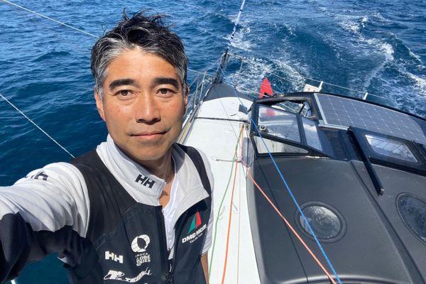 Koshiro Shiraishi skipper de DMG Mori revient sur le Vendée Globe après une première participation en 2016.