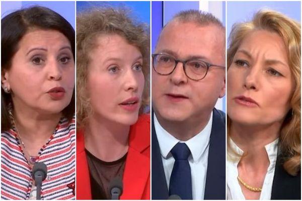 Samia Jaber (DVG), Mathilde Nassar (EELV-LFI), Damien Meslot (LR) et Marie-José Fleury (DVC-MoDem) sont candidats au second tour des élections municipales à Belfort
