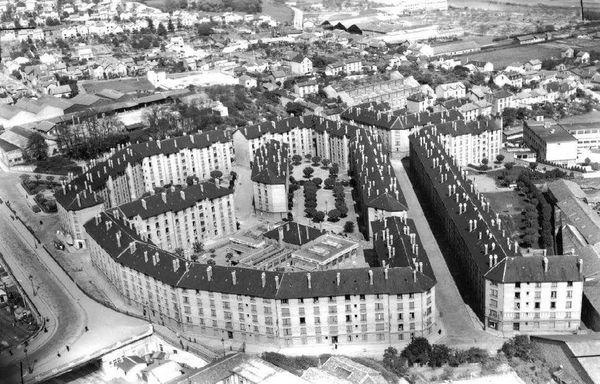 La cité des Coutures vue du ciel dans les années 1930