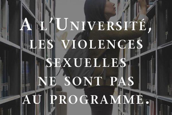 À l'aide de phrases moitié ironiques, moitié chocs, une campagne d'affichage interpelle les étudiants de l'université Clermont-Auvergne sur le sexisme et le harcèlement sexuel.