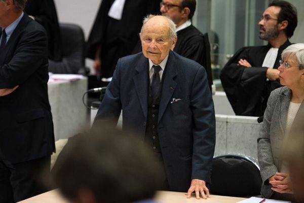 Jacques Servier à l'audience au tribunal de Nanterre