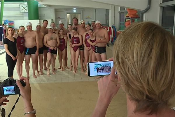 """La Team """"Masculin"""" de natation synchronisée de Nantes"""