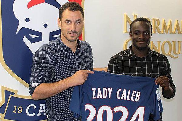 Caleb Zady Sery s'est engagé pour cinq saisons avec le Stade Malherbe de Caen