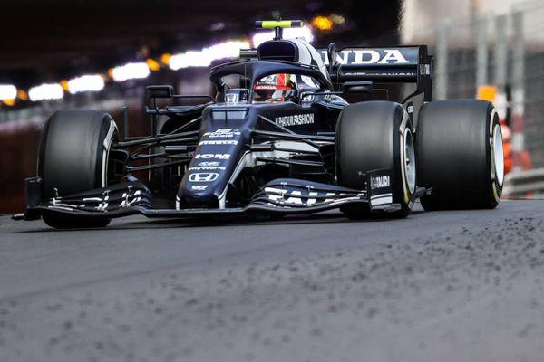 Pierre Gasly à bord de sa AlphaTauri lors du Grand Prix de Monaco, dimanche 23 mai 2021.