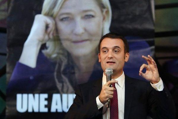Florian Philippot, tête de liste du FN pour la circonscription du Grand Est