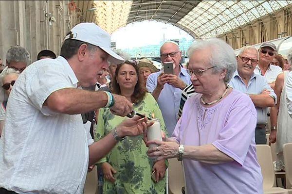 Une cérémonie d'hommage aux déportés juifs a eu lieu en gare de Nice, le 23 juillet 2018