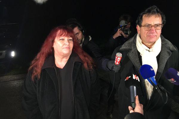 Corinne Herrmann et Didier Seban, les avocats du père d'Estelle Mouzin, au soir du premier jour des fouilles, lundi 7 décembre 2020