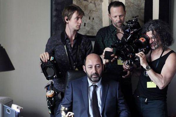 Sur le tournage d'un épisode de Baron Noir.
