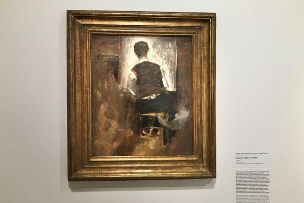 Autoportrait de Toulouse-Lautrec de dos au Musée d'art moderne de Fontevraud