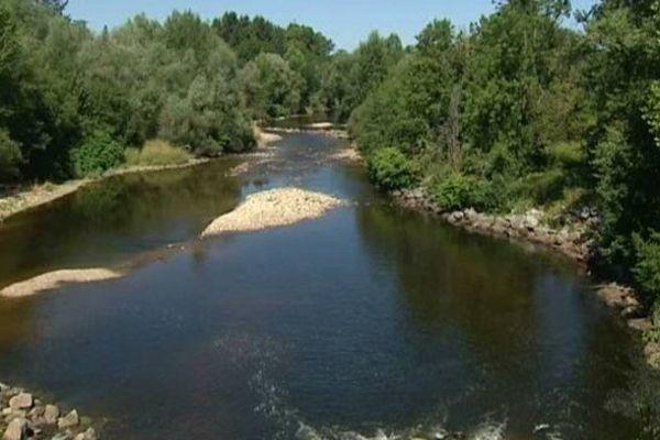 Le débit de la Dore est passé en-dessous de son seuil critique (2 mètres cubes par seconde) entre les 11 et 18 juillet.