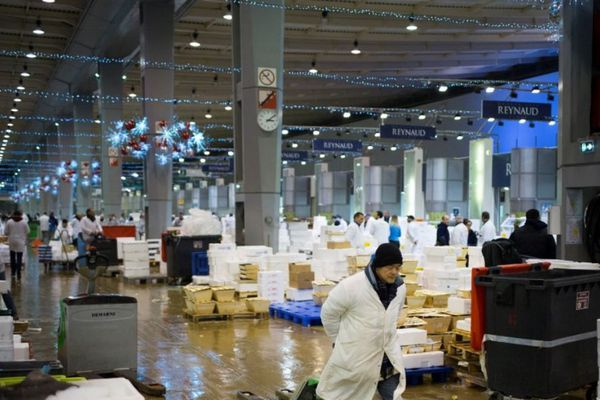 Le marché international de Rungis, dans le Val-de-Marne.