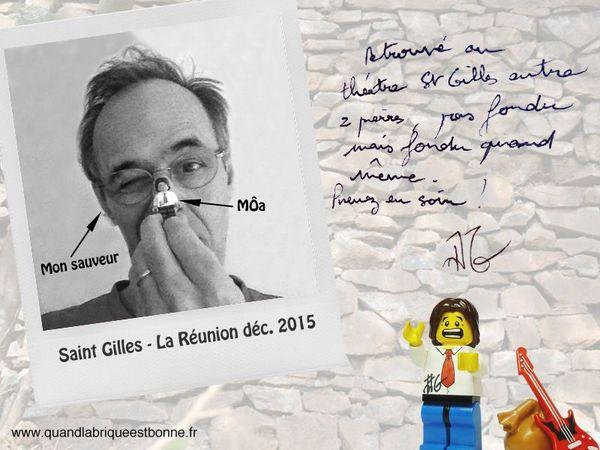 Selfie de Jean-Jacques Goldman et de son alter-Lego