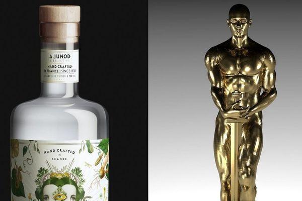 """La bouteille Junod de la distillerie """"Les Fils d'Emile Pernot"""" est offerte aux nominés depuis 2019."""