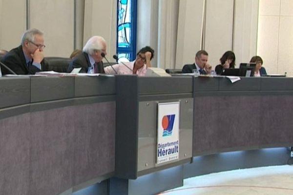 Une session du conseil général de l'Hérault