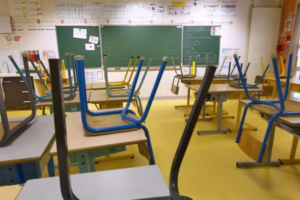 Illustration - Classe fermée pendant l'épidémie de coronavirus en France.