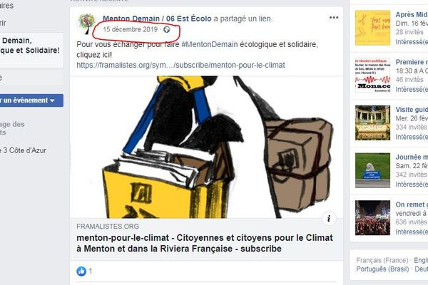 Le #Mentondemain sur le compte facebook de Menton demain / 06 Est Ecolo