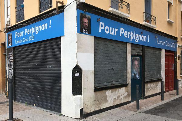 La permanence de Romain Grau candidat LREM à Perpignan.