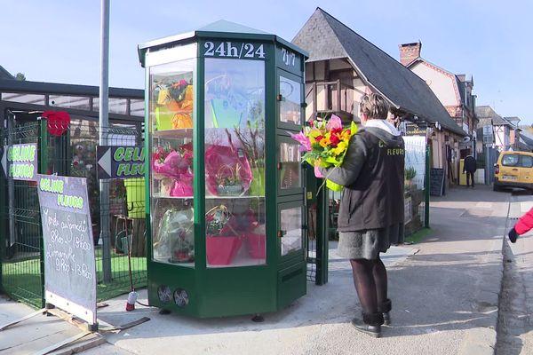 Février 2021- Une première en Normandie : un distributeur automatique de fleurs