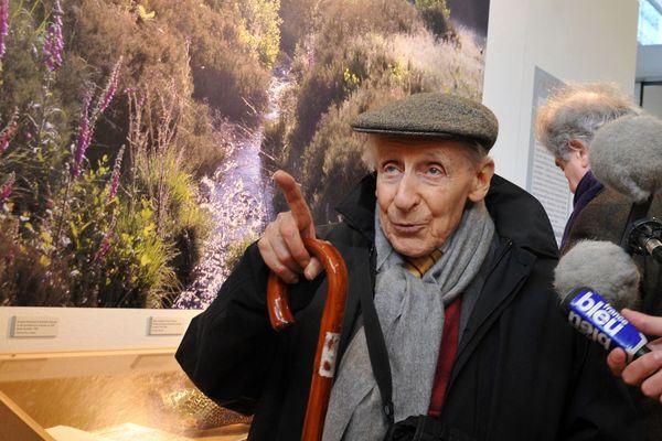 Georges-Emmanuel Clancier, lors de l'inauguration de l'exposition consacrée à son oeuvre à la BFM de Limoges le 25 mars 2013
