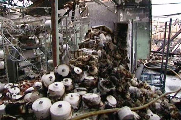 La quasi-totalité du site de Caudry a brûlé.
