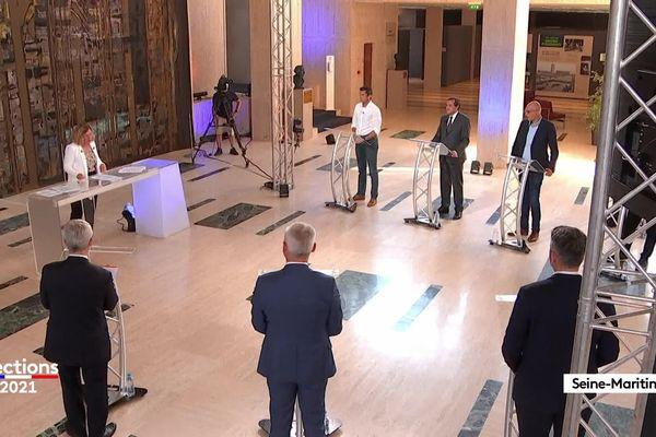 Les candidats ont débattus sur les enjeux du prochain scrutindans le département.