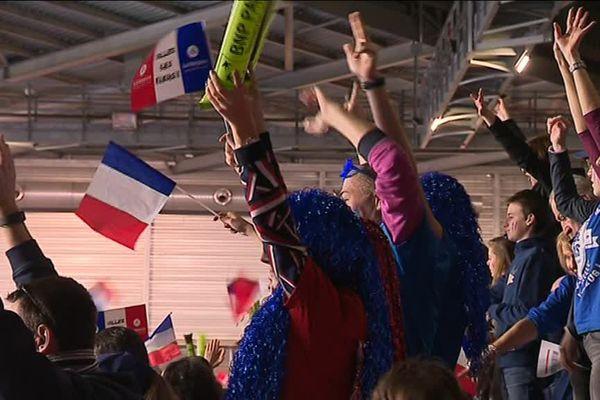 Les 5 300 places de la Halle Olympique étaient prises ce samedi.