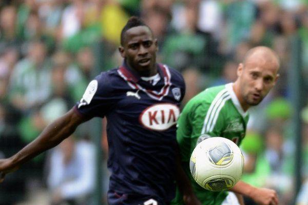 André Biyoko-Poko lors du match Bordeaux-Saint Etienne (le 01/09/2013)