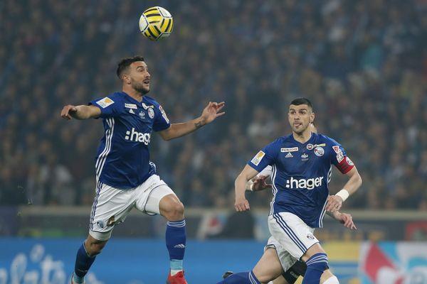 Pablo Martinez en action durant cette finale de Coupe de la Ligue