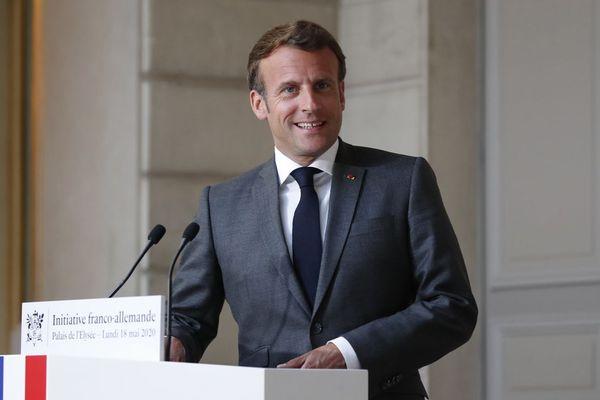 Emmanuel Macron, le 18 mai 2020