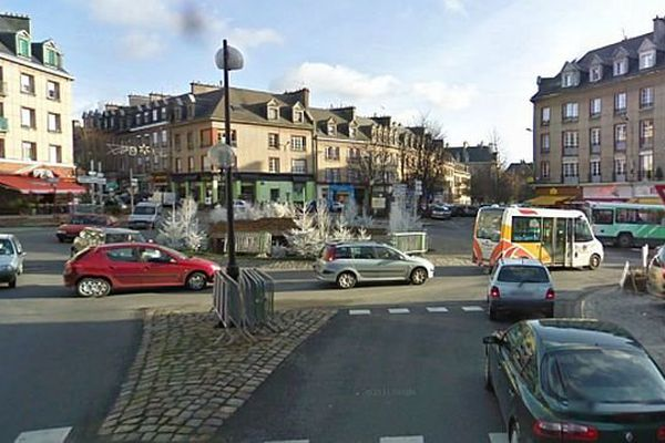 Image d'illustration : automobilistes dans les rues de Flers (Orne), archives