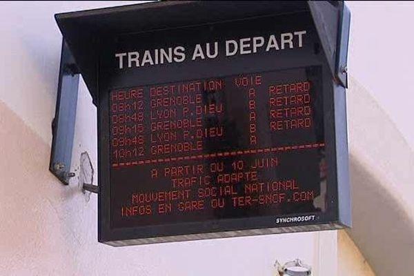 L'affichage en gare- Le 23/06/2014