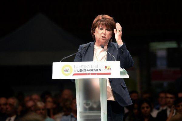 """Martine Aubry ce samedi aux """"Universités de l'Engagement"""" du PS à Lomme."""