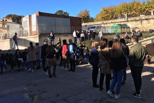 Montpellier - manifestation du collectif pour les victimes de la route- 26 octobre 2020.
