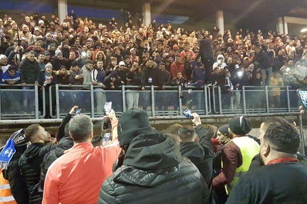 Les joueurs et les supporters après l'exploit !