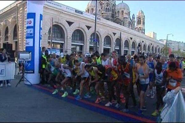 Départ du Marathon édition 2014, devant le Mucem