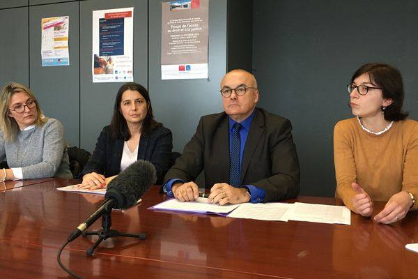 Pierre Sennès, le procureur de Nantes lors d'une conférence de presse, le 9 janvier 2020