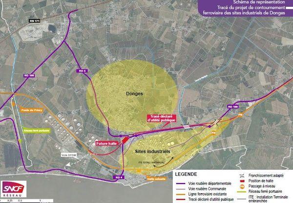 Le contournement SNCF nécessitera la réalisation de quatre kilomètres de voie