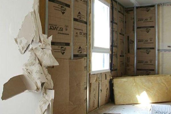 Exemple de dégats causés dans cette maison en construction