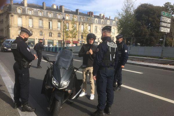 Les contrôles se multiplient en Aquitaine, comme ici à Bordeaux