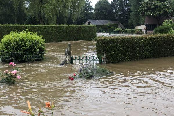 A Gacé dans l'Orne, des inondations ont touché une vingtaine d'habitations et une dizaine d'entreprises, le 13 juillet 2021.