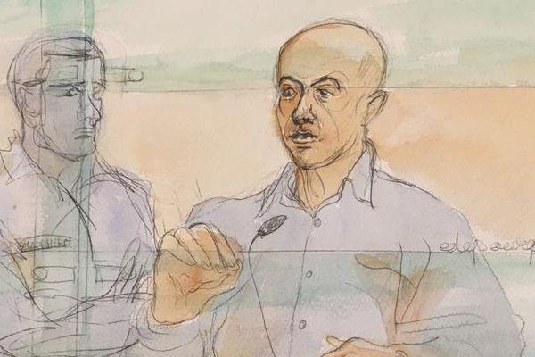 Redoine Faïd devant la cour d'assises de Paris le 2 mars 2016.