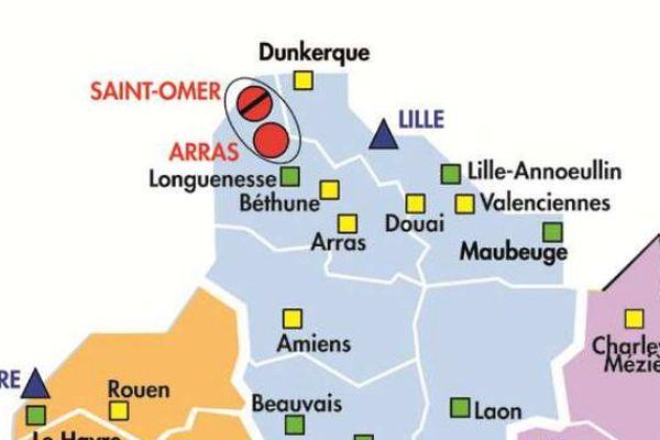 Lille accueillera un QPS de 120 places, et une maison d'arrêt de 600 places sera construite à Arras ou à Saint-Omer (second choix).