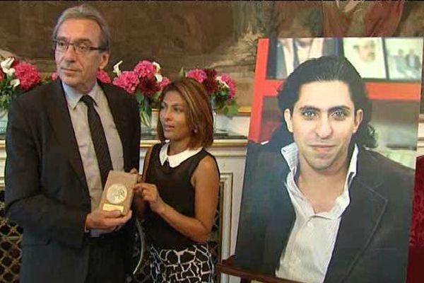 L'opposant saoudien était représenté par l'épouse de l'activiste Ensaf Haidar.