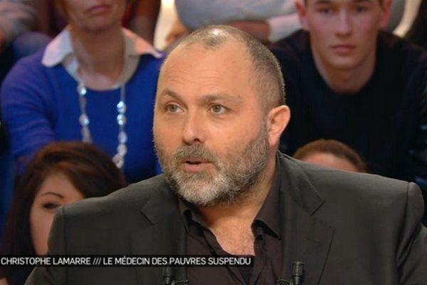 Le docteur Christophe Lamarre sur la plateau de Canal +.