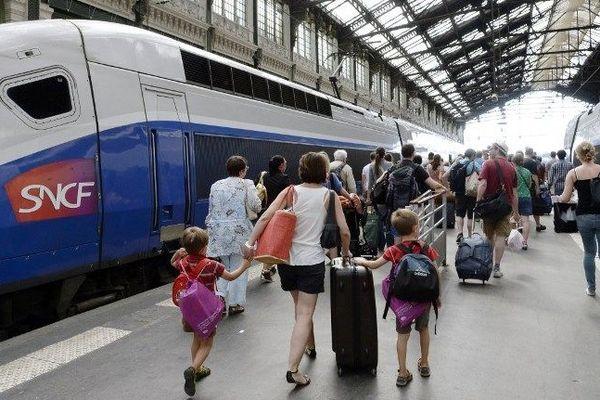 TGV en gare de Lyon (illustration)