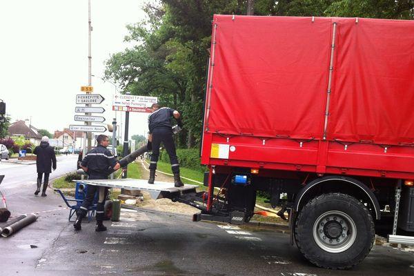 La sécurité Civile se mobilise pour pomper les routes