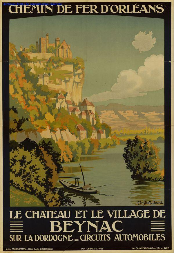 Loin de la dureté des conflits sociaux, une vision idyllique de la Dordogne.