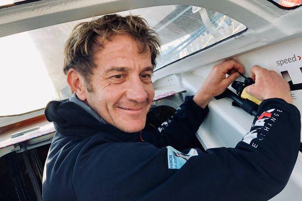 Olivier Cardin barrera le Class40 Région Normandie dans la Route du Rhum 2018.